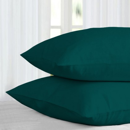 Bedsheets Solid Collection 100% Combed Cotton[880 threads] : S.Single/Queen - Alpine Green