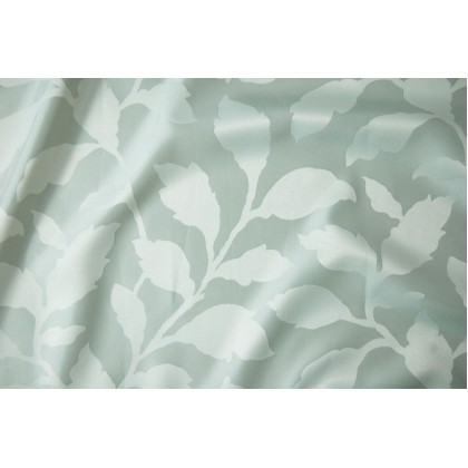 """1 Set French Pleat Jacquard Curtain 60"""" x 66""""  - Leaves Teal"""