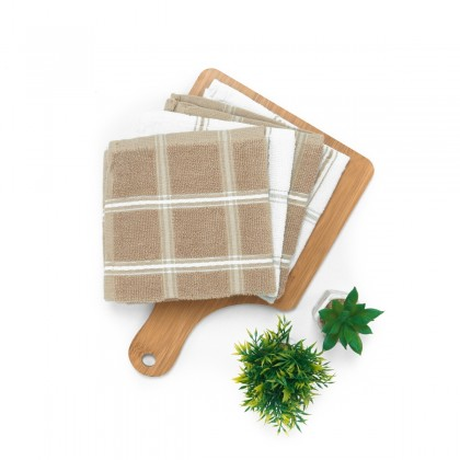 4-in-1 Mixed Checkered Absorbent Kitchen Towel