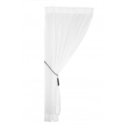 1 Set French Pleat Sheer Curtain - Off-White Stripe